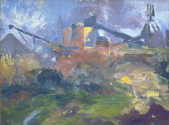 """South Crofty Tin Mine"" (oil on board) - www.ray-atkins.co.uk"